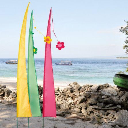 Drapeaux Bali Set de 3, 230 cm