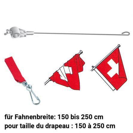 Fahnenstabilisator mit Verbindungsstück rot 1300/28 mm