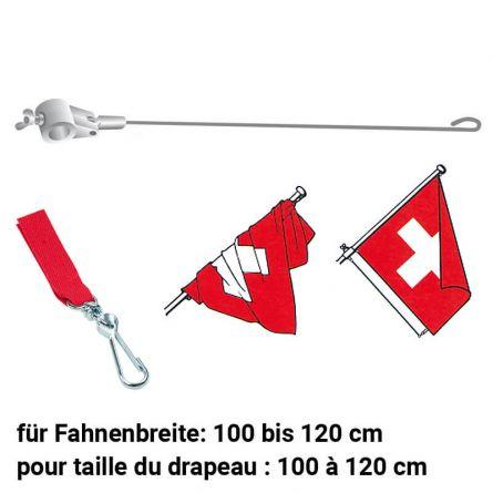 Fahnenstabilisator mit Verbindungsstück rot 900/28 mm
