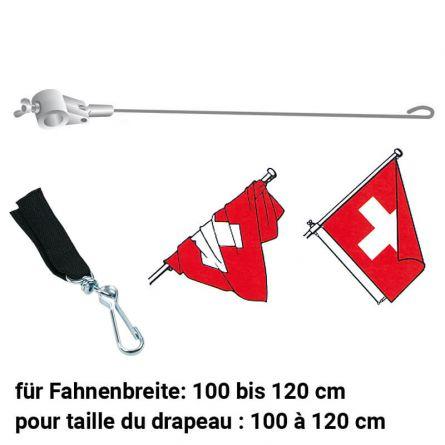 Fahnenstabilisator mit Verbindungsstück schwarz 900/28 mm