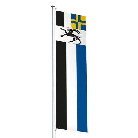 Knatterfahne Kanton Graubünden Superflag® 80x300 cm
