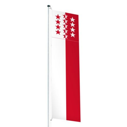 Drapeau crépitant canton Valais Superflag® 80x300 cm