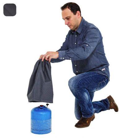Blache für Gasflasche, klein, 25x40 cm anthrazit 270 g/m2