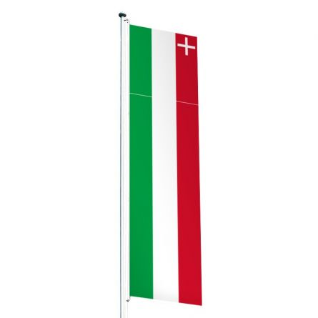 Drapeau crépitant canton Neuchâtel Superflag® 80x300 cm
