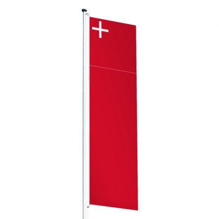 Drapeau crépitant canton Schwytz Superflag® 80x300 cm