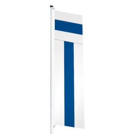 Drapeau crépitant canton Zoug Superflag® 80x300 cm
