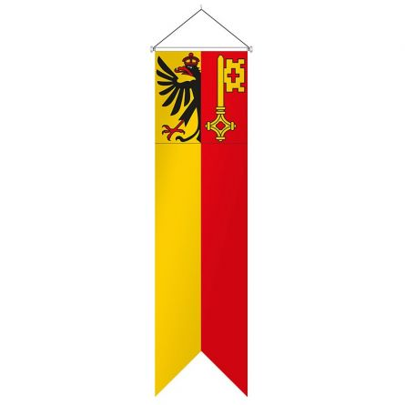 Oriflamme canton de Genève complet Superflag® 80x300 cm