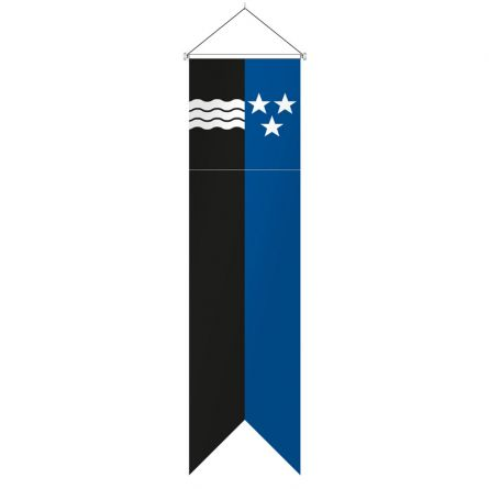 Oriflamme canton Argovie complet Superflag® 80x300 cm