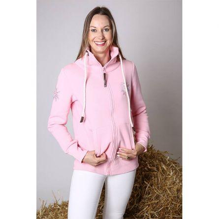 Damen Jacke «Glitzer Edelweiss», rosa