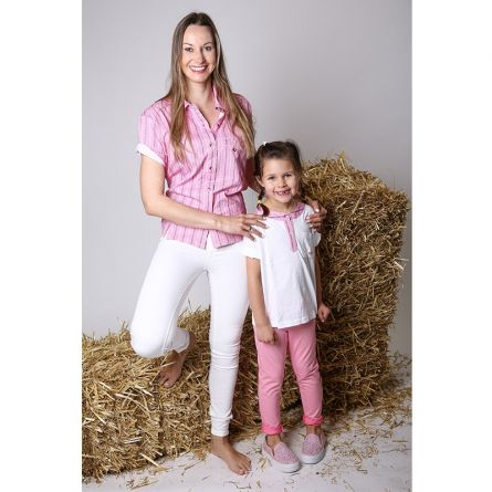 Kinder T-Shirt kurzarm «Grindelwald», rosa