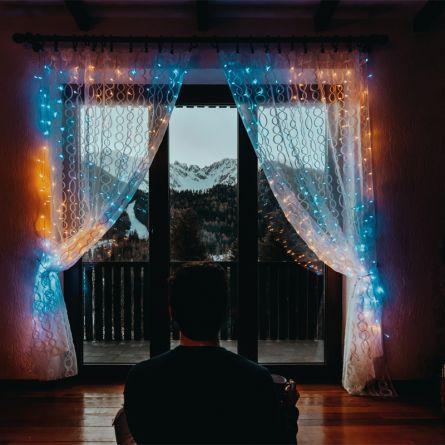 twinkly™ Rideau de lumières LED «Curtain», avec 210 LED coloré + bc + bf