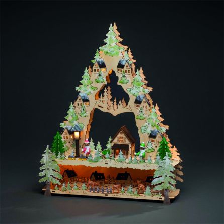 LED Holzpyramide «Dorf»