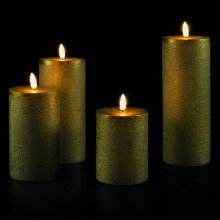 Set de bougies LED «Or», set de 4