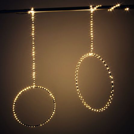 LED anneau noir «Angel Hair»