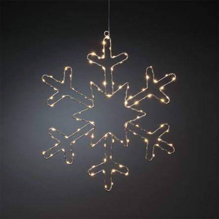 Silberschneeflocke «Angel-Hair» 100 sunny-warme LED