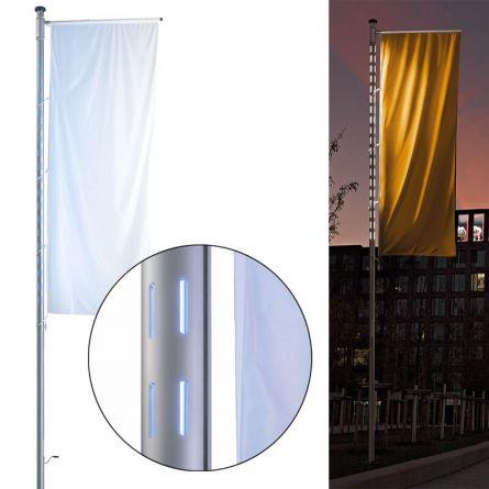 Mât à LED «Lumière», accessoires inclus