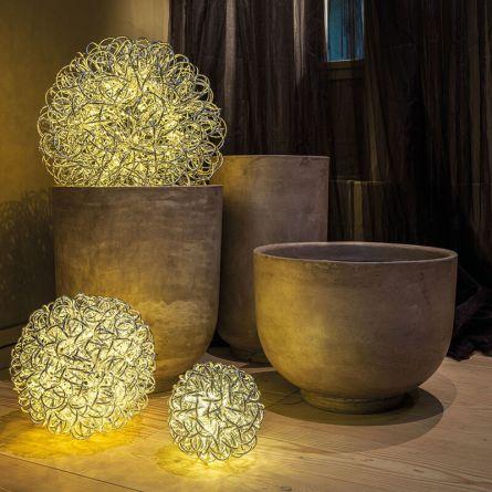 Boule déco en métal LED «Leonis»