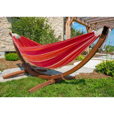 Hängematte mit hochwertigem Holzgestell «Summertime»