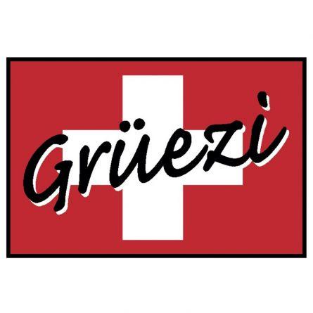 Fussmatte «Grüezi» 50×75 cm