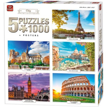 Puzzle «City 5 en 1»