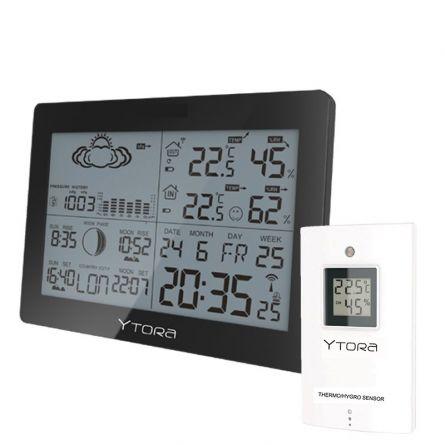 Ytora Station météorologique avec capteur radio et alarme thermique