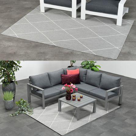 Out- und Indoor-Teppich «Light Grey»