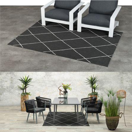 Out- und Indoor-Teppich «Dark grey»