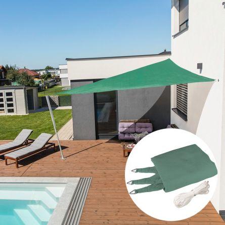 Dreieck-Sonnensegel «Capri», petrol-grün, mit 225 g/m² HDPE-Gewebe