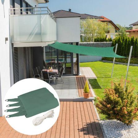 Quadrat-Sonnensegel «Capri», petrol-grün, mit 225 g/m² HDPE-Gewebe