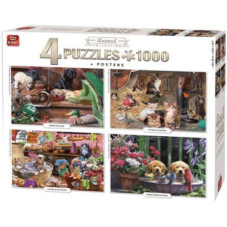 Puzzle «Animaux 4 en 1»