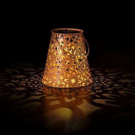 Lanterne solaire LED «Fleur antique» avec support S