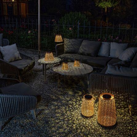 Lanterne solaire LED «Fleur antique»