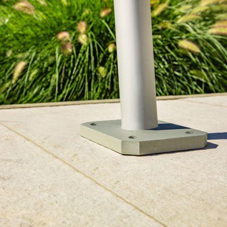 Terrassenhalterung passend zu Sonnensegel-Mast «Semi-Profi»