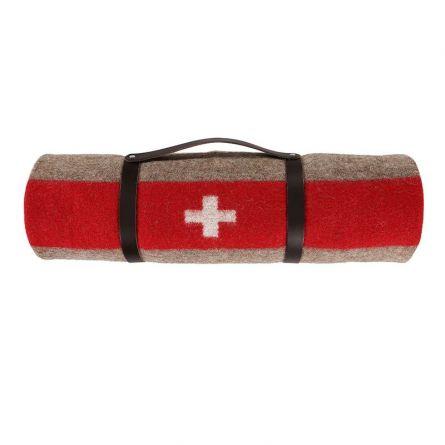 eskimo Schweizer Armeedecke mit Ledergurt