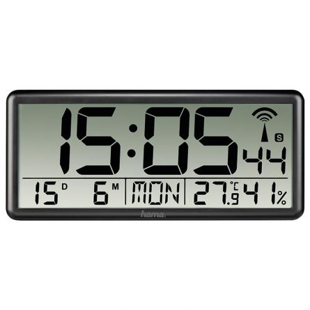 HAMA Horloge murale numérique radiocommandée «Jumbo»