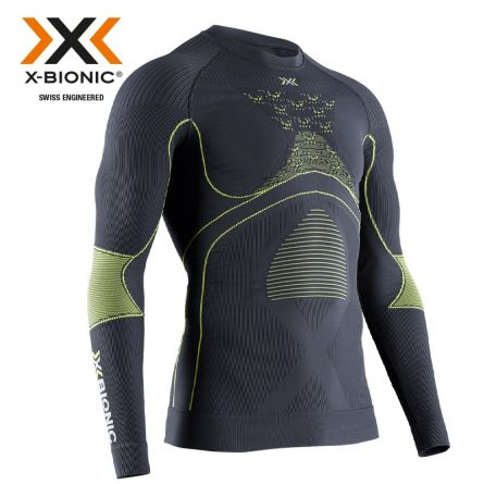Thermo-Shirt «Energy Accumulator 4.0, charcoal-yellow