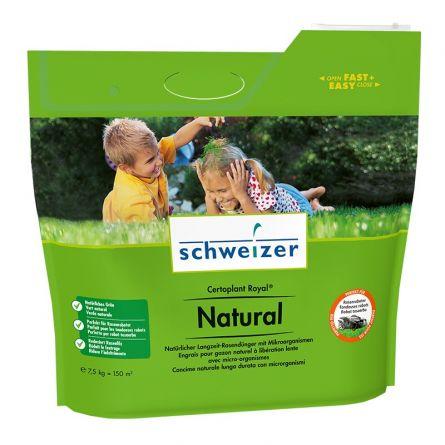 schweizer Engrais naturel à long terme pour gazon «Certoplant Royal Natural», 150 m², 7,5 kg