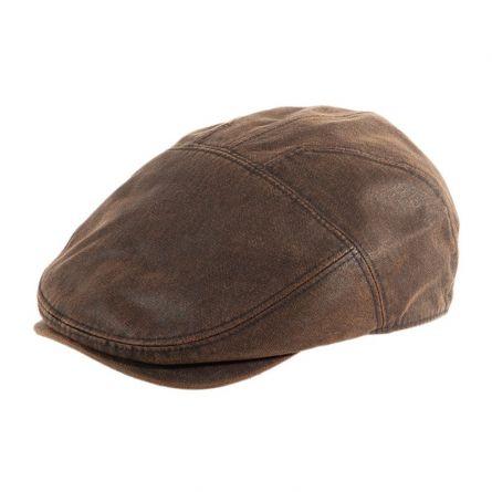 Herren-Flatcap «Leder»
