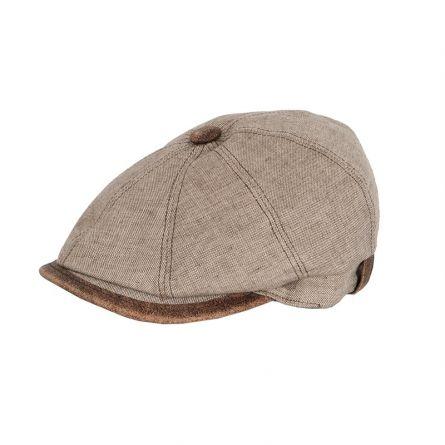 Herren-Flatcap «Leinen»