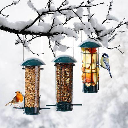 Colonne pour mangeoire à oiseaux, set de 3