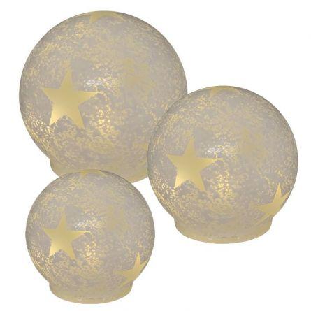 Boules de verre LED «Star»