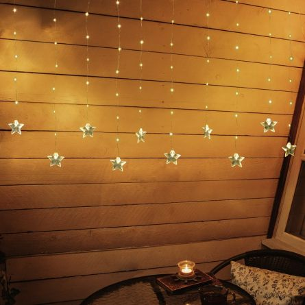 LED Lichtervorhang «Stars», Batteriebetrieben