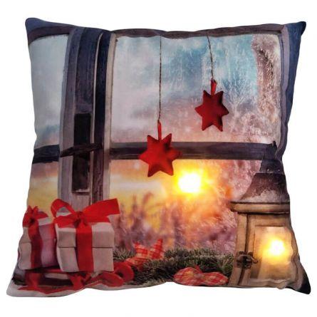 LED Kissen «Schlitten & Geschenke»
