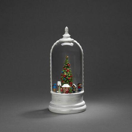 Boule à neige LED «Marché de Noël»