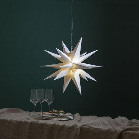 Etoiles de Noël 3D déco, Ø 57 cm blanc