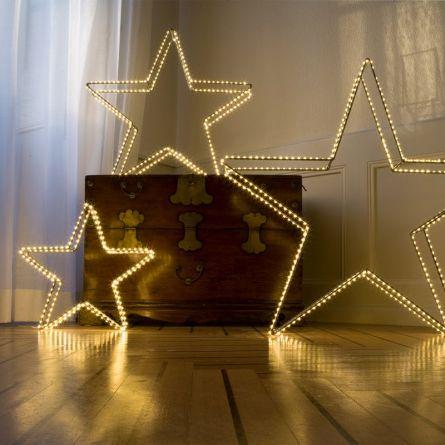 LED Star Open «Angel Hair Argento»
