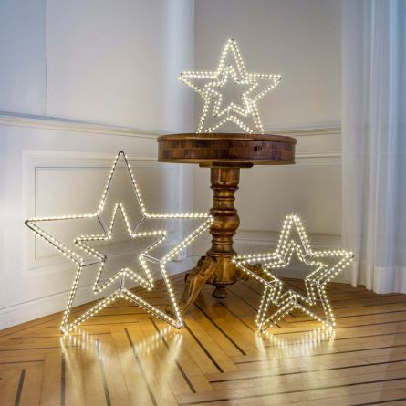LED Star Double «Angel Hair Argento»