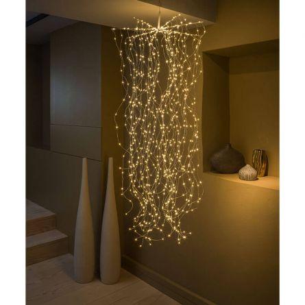 Cascade LED «Cheveux d'ange Argento»