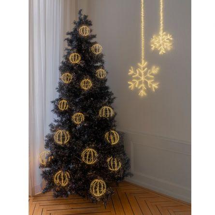 Guirlande lumineuse boules LED «Angel Hair Argento», set de 5