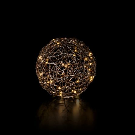 LED Bälle «Rattan» Ø 25 cm